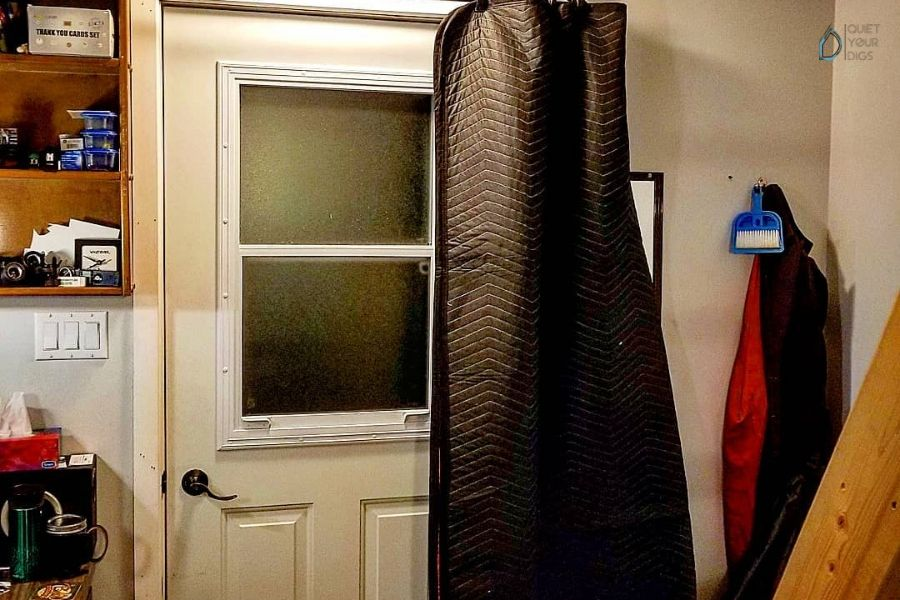 Soundproof Your Door with an Acoustic Blanket